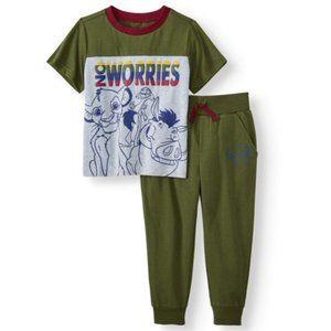 Lion King Disney shirt and jogger set